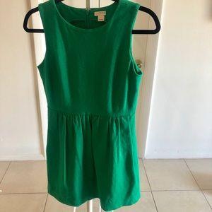 Green J Crew Skater Dress